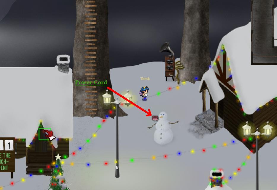 Outside snowman